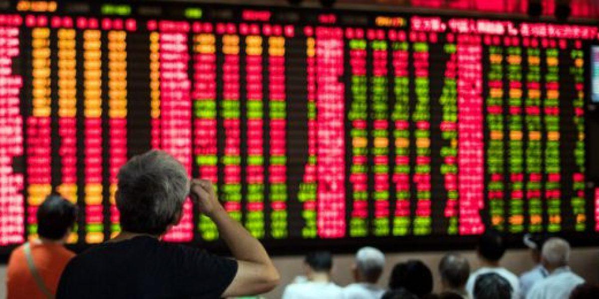 Bolsas chinas cierran con números azules