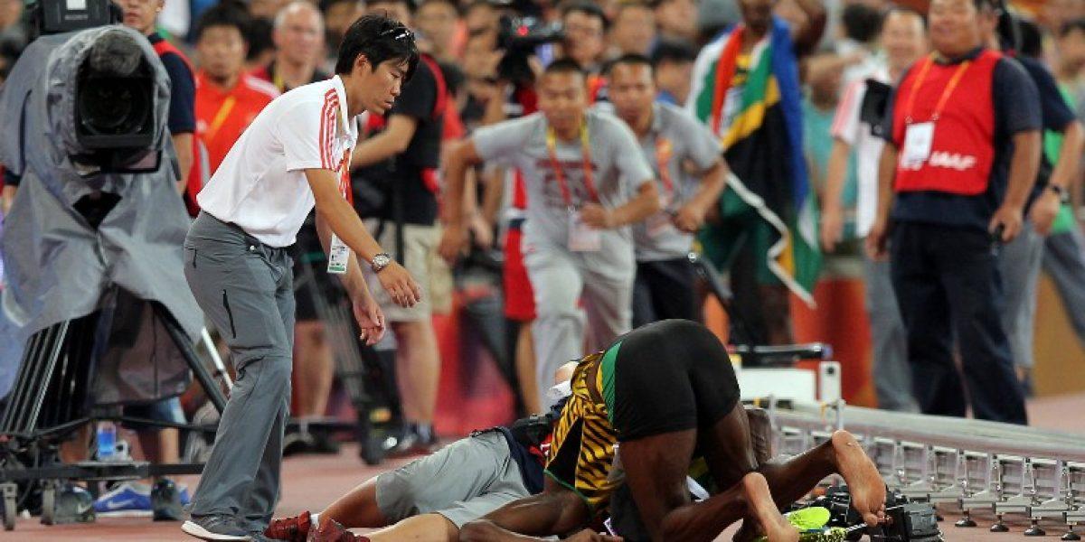 Se lo tomó con humor: Bolt bromeó con su insólito