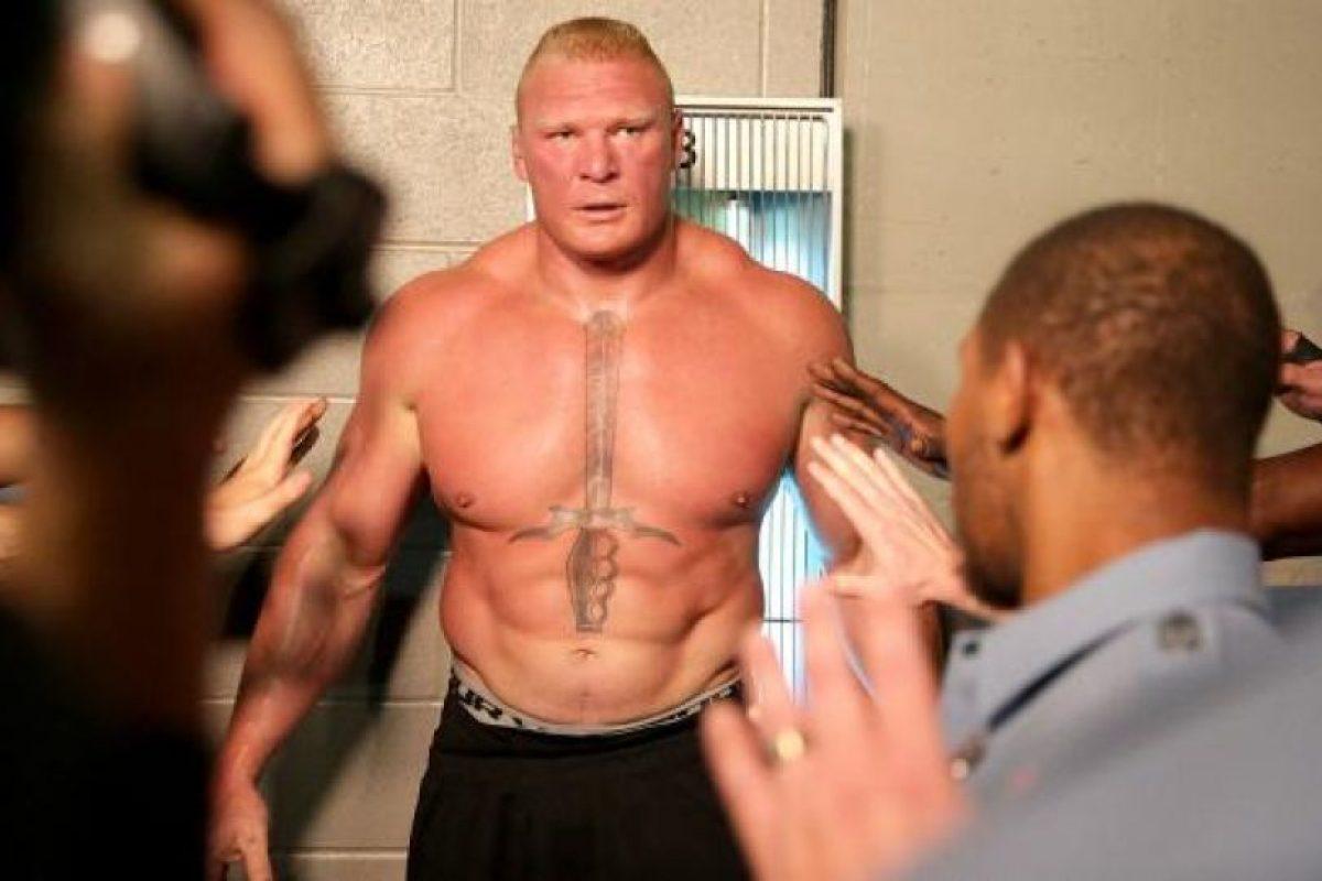 Lesnar derrotó a Undertaker en Wrestlemania, algo que no pudieron hacer estrellas como Randy Orton, Triple H, Shawn Michaels y Cm Punk, entre otras Foto:WWE. Imagen Por: