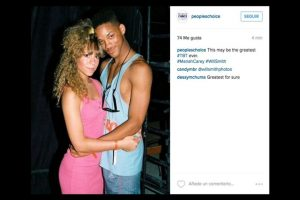 Mariah Carey y Will Smith Foto: Instagram/peopleschoice. Imagen Por: