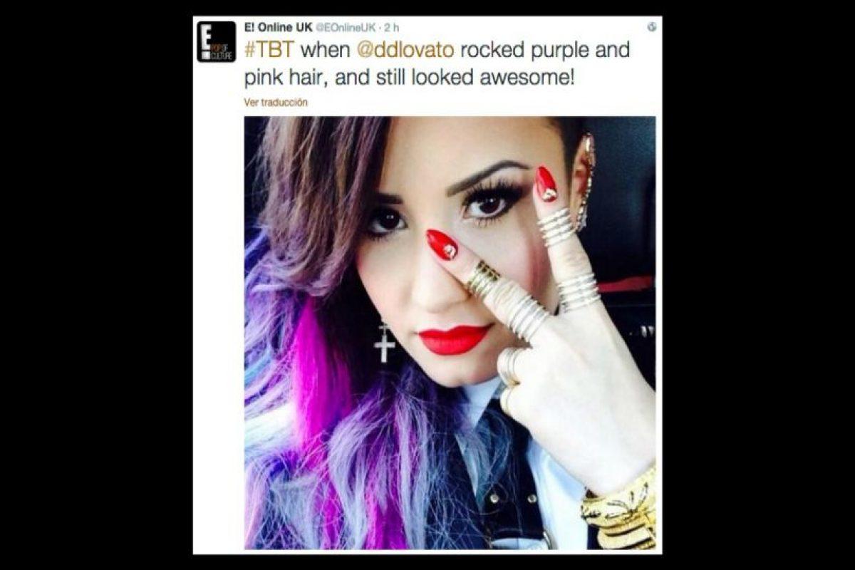 Demi Lovato Foto:Twitter/EOnlineUK. Imagen Por: