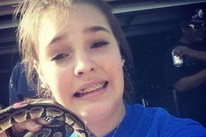 La nueva tendencia en redes sociales,el #SnakeSelfie, hashtag con el que los usuarios comparten en redes sociales sus fotografías con serpientes Foto:Foto reproducida. Imagen Por: