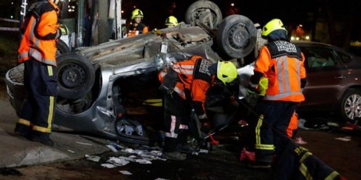 Choque protagonizado por conductor ebrio deja dos muertos en Concepción