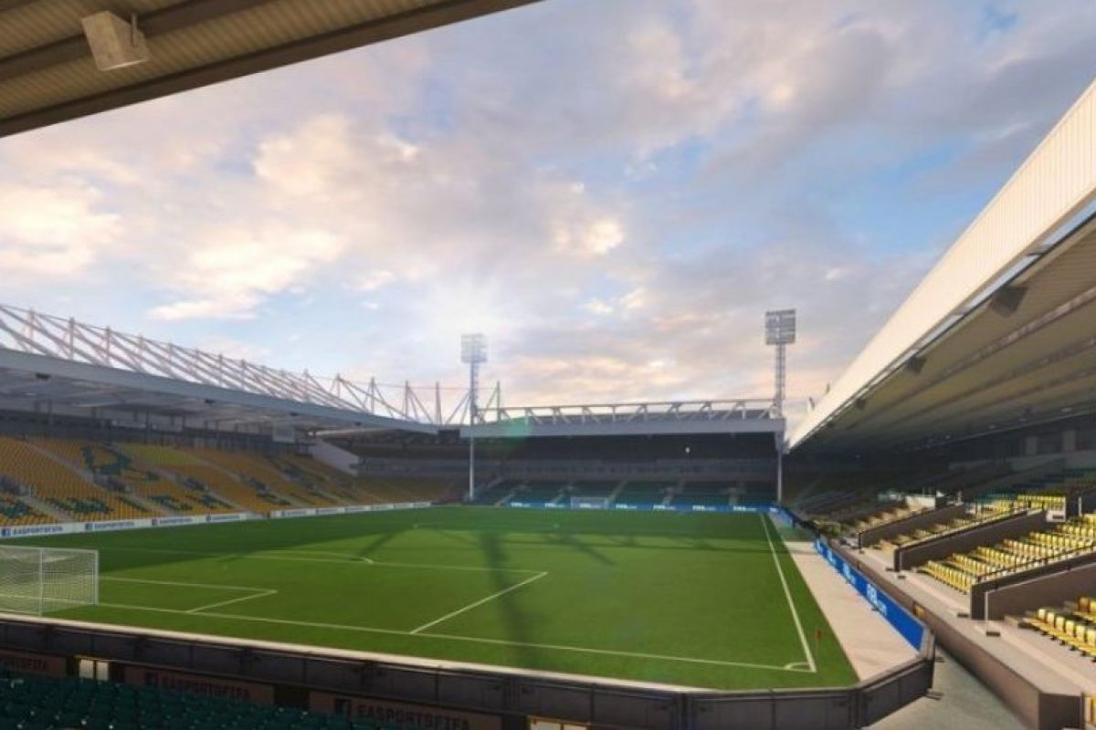 Carrow Road (Norwich City, Barclays Premier League). Foto:EA Sports. Imagen Por: