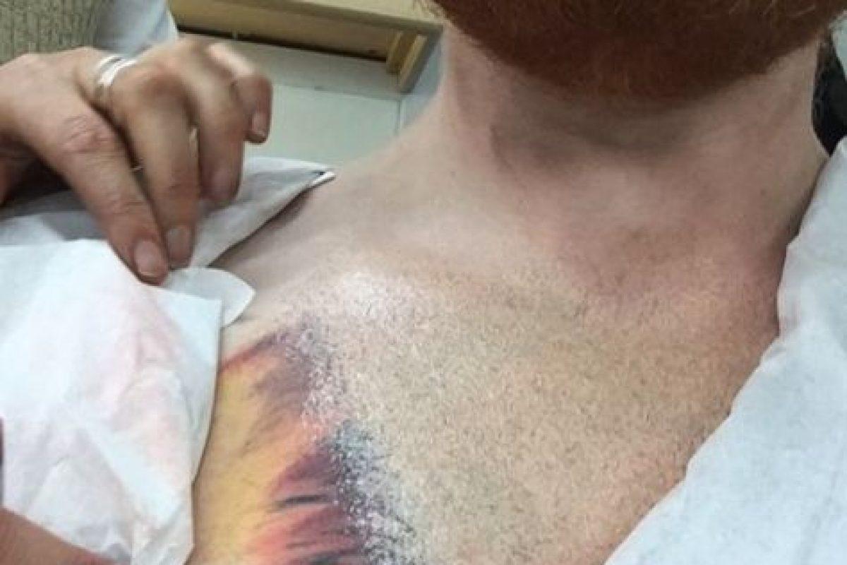 Y en una tercera publicación aclaró que solo jugaba y su tatuaje es tan real que estará en su pecho por años. Foto:vía instagram.com/teddysphotos. Imagen Por: