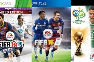 """La portada del """"FIFA"""" ha sufrido diversos cambios. Foto:EA Sports. Imagen Por:"""