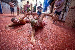 Festival de la Tomatina, celebrado en Buñol, España. Foto:AFP. Imagen Por: