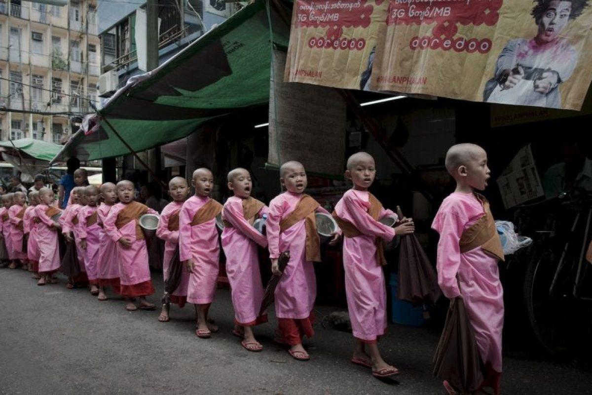 Budistas en Myanmar. Foto:AFP. Imagen Por: