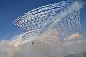 Helicópteros de Corea del Sur. Foto:AFP. Imagen Por: