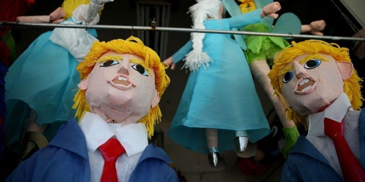 No es Farkas: las piñatas de Donald Trump que la rompen en EE.UU.