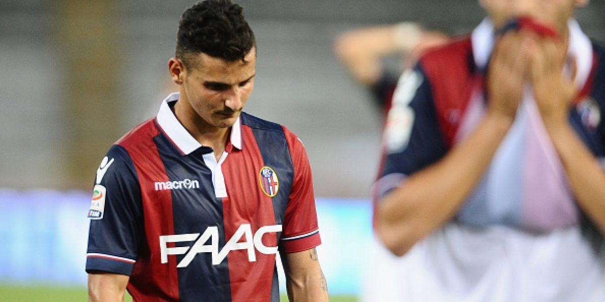 Erick Pulgar fue titular por primera vez en Bologna en dolorosa caída