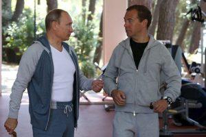 El presidente ruso mostró entusiasmo antes de comenzar sus ejercicios. Foto:AFP. Imagen Por: