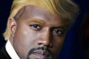 Así luciría West con el copete de Donald Trump Foto:Instagram.com/explore/tags/kanyewest. Imagen Por: