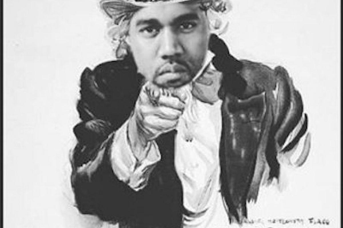 """Incluso ya hay figuras de West como """"El Tío Sam"""", uno de los emblemas estadounidenses Foto:Instagram.com/explore/tags/kanyewest. Imagen Por:"""