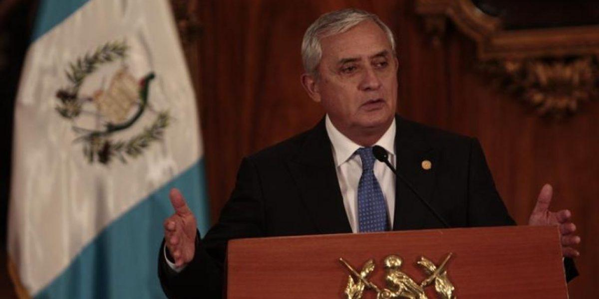 El presidente de Guatemala apela a la presunción de inocencia