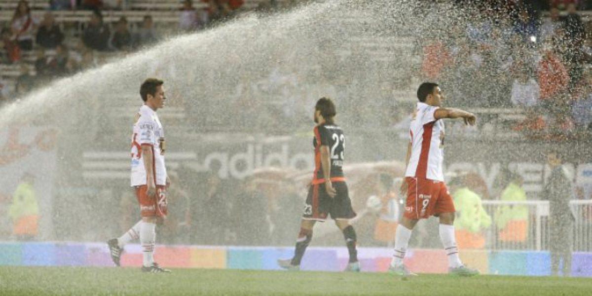 El Monumental fue un chiste: Jugadores de River fueron sorprendidos por el agua