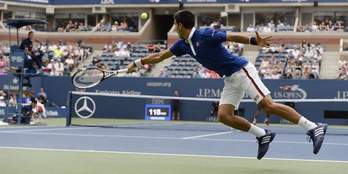 ¡Paliza! Djokovic supera con holgura la primera ronda del US Open