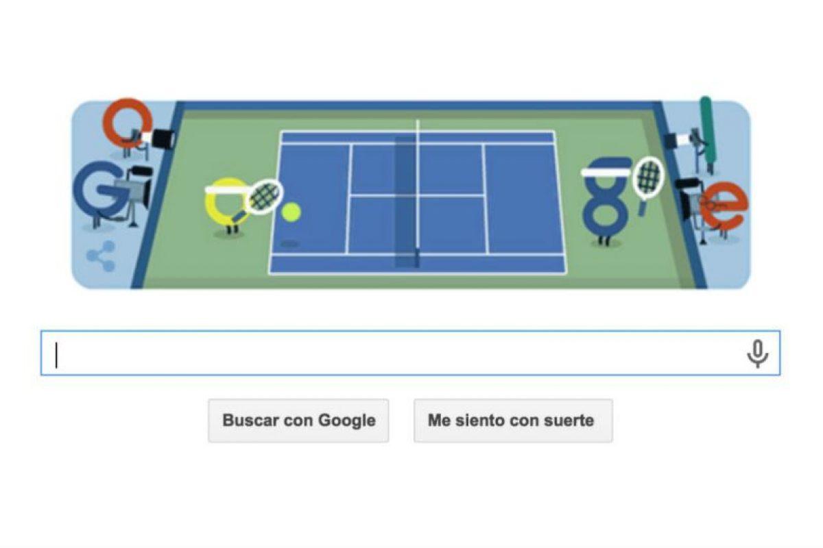 """El """"doodle"""" de Google para el inicio del US Open. Foto:Google. Imagen Por:"""