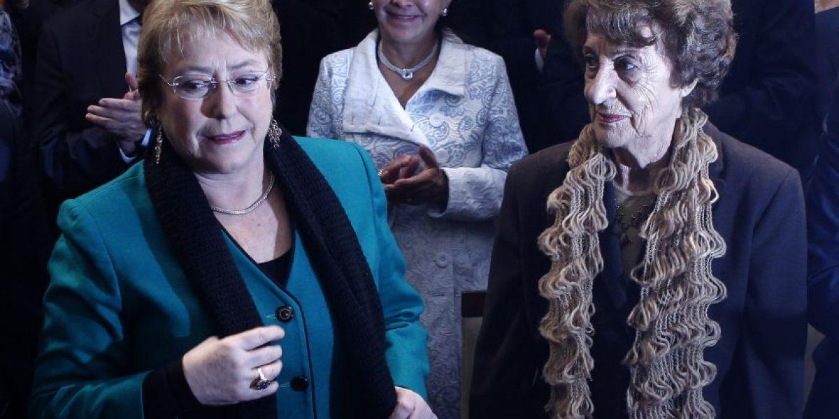 Madre de Bachelet: el apoyo de los partidos llegó un poco