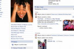 2006. La plataforma ya no recuerda a los usuarios que ese es su perfil. Foto:Facebook.com. Imagen Por: