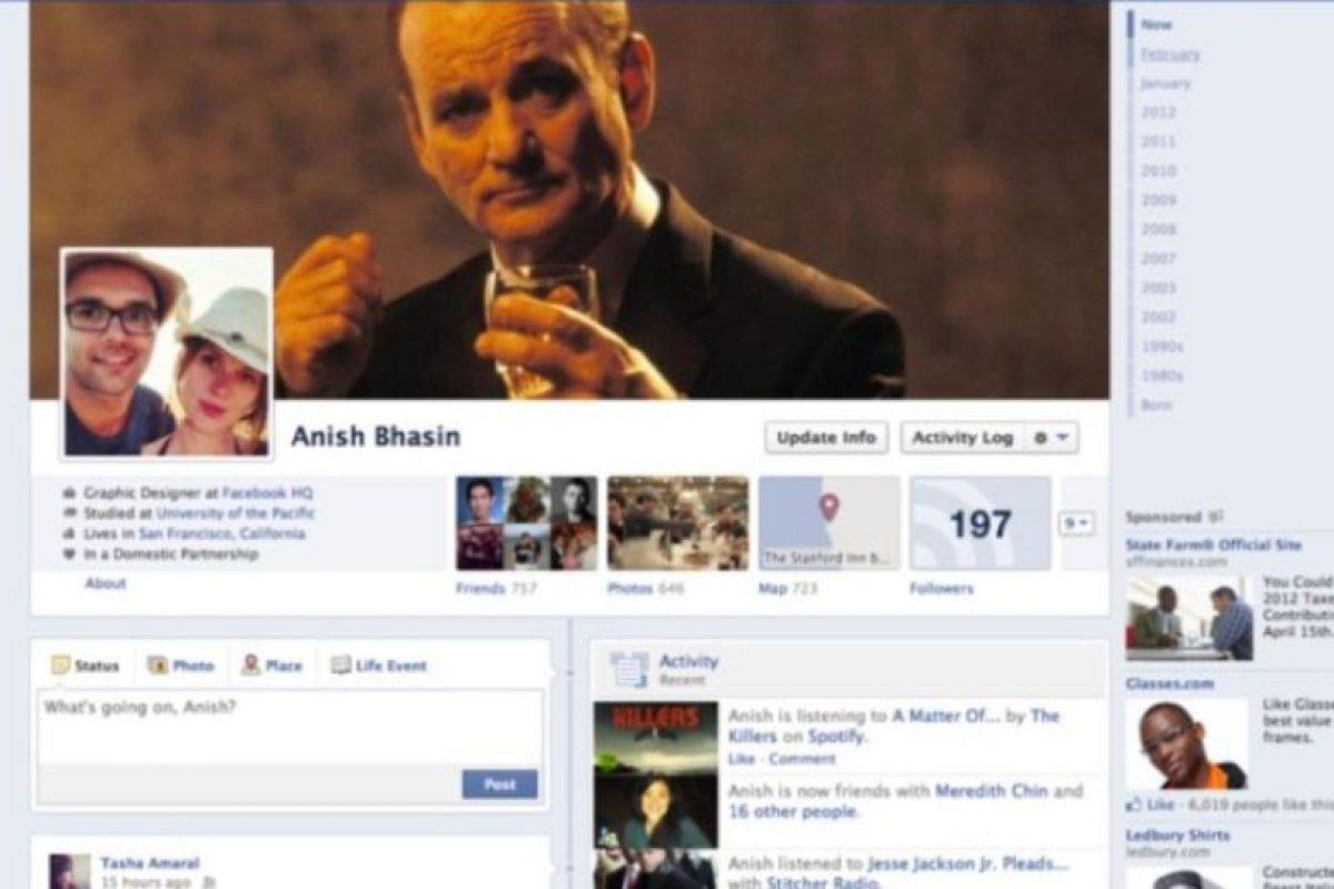 2012. Surge la línea de tiempo o Timeline que le permite conocer su actividad desde su nacimiento hasta la actualidad. Foto:Facebook.com. Imagen Por:
