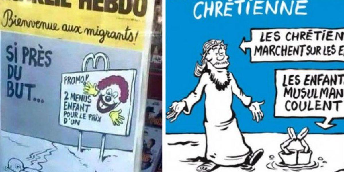 Charlie Hebdo ironiza con cadáver de niño sirio muerto en la playa