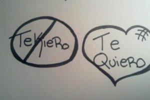"""""""Quiero"""" se escribe con """"Q"""". Foto:vía Twitter. Imagen Por:"""