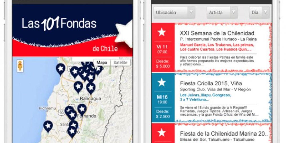Aplicación permite saber cuáles son las 101 mejores fondas de Chile