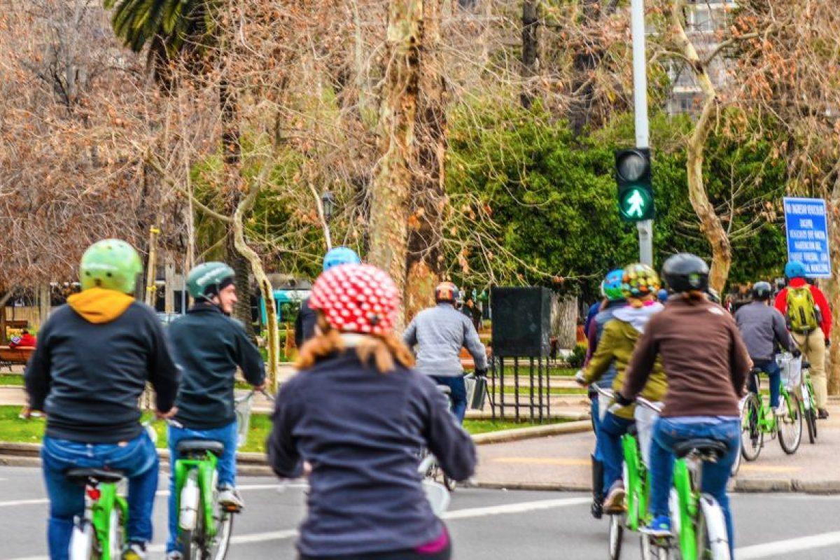 Recorrido de La Bicicleta Verde por Santiago Foto:Cortesía. Imagen Por: