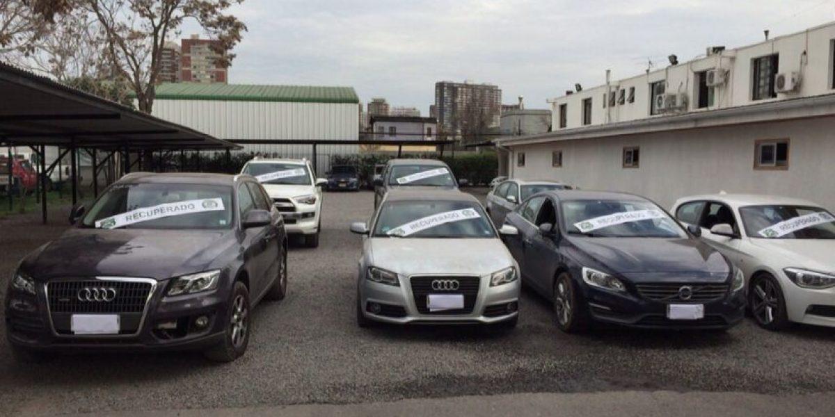 Carabineros recupera siete vehículos de alto valor robados en los últimos meses