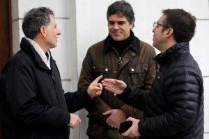 Daniel Farcas (PPD), Gonzalo Fuenzalida (RN) y Gabriel Silber (DC) Foto:Agencia Uno. Imagen Por: