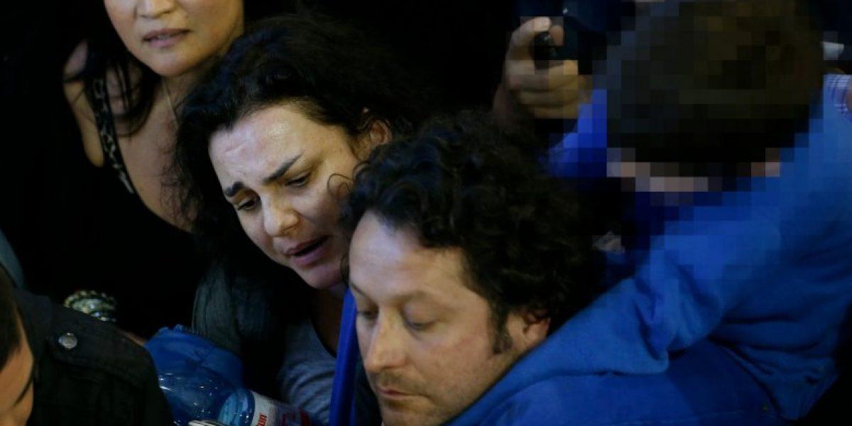 El colapso de Berta Lasala y Daniel Alcaíno en el aeropuerto