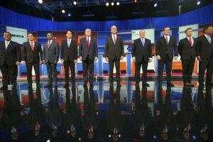 """6. Durante días la cadena CNN ha promocionado el debate con las imágenes de Trump y Bush, además de utilizar el eslogan: """"Esta vez no va a ser suave"""". Foto:AP. Imagen Por:"""