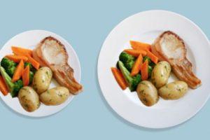 Científicos de la Universidad de Illinois en Estados Unidos confirman la teoría de que cuando se sirve más cantidad en un plato o se escogen porciones más grandes, se tiende a comer más. Foto:Pinterest. Imagen Por: