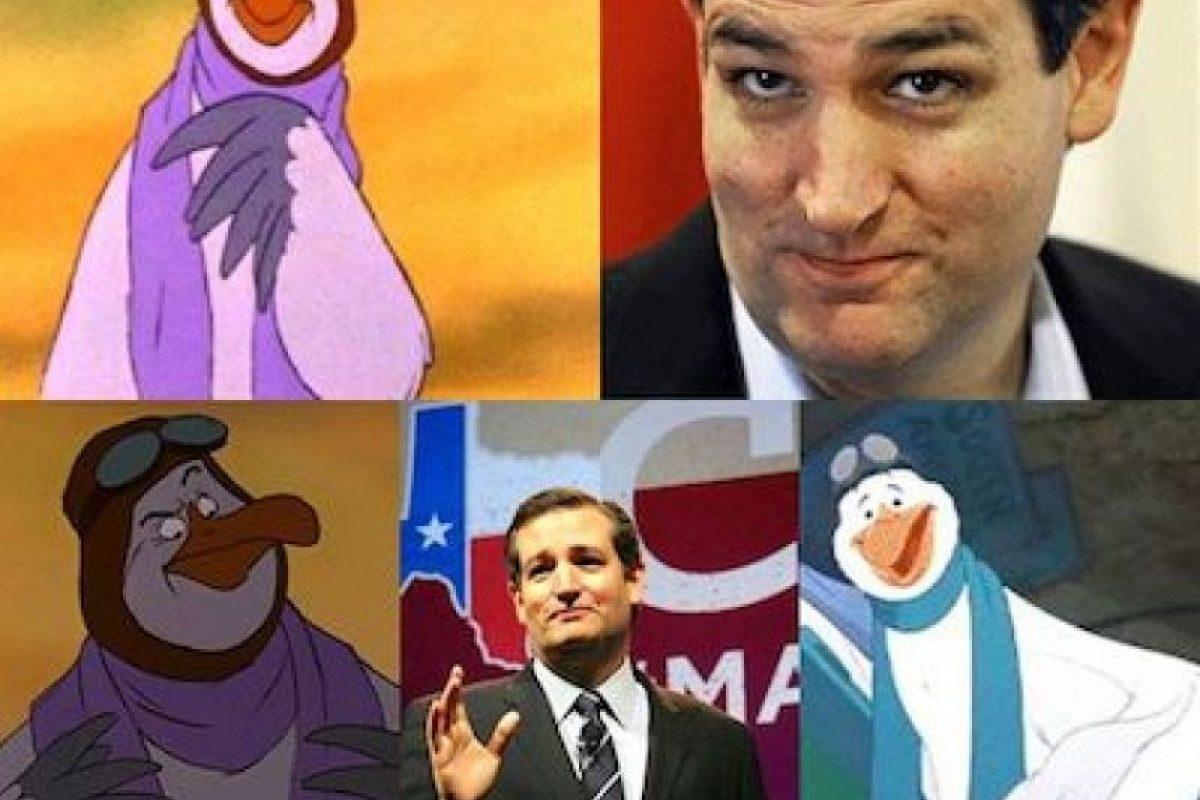 También el senador Ted Cruz fue comparado Foto:Twitter.com. Imagen Por: