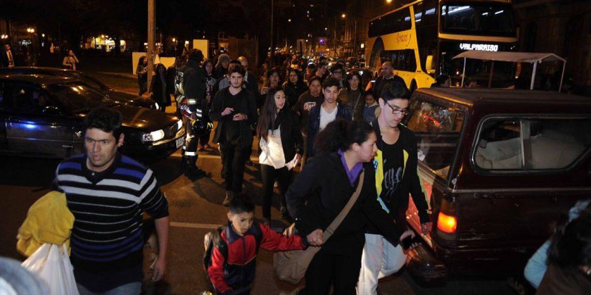 Valparaíso inició evacuación tras alarma de tsunami