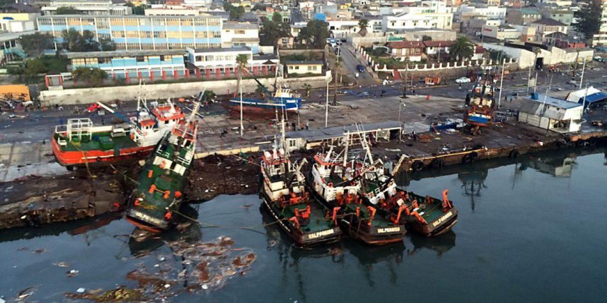 Las devastadores imágenes aéreas tras tsunami en Coquimbo y Tongoy