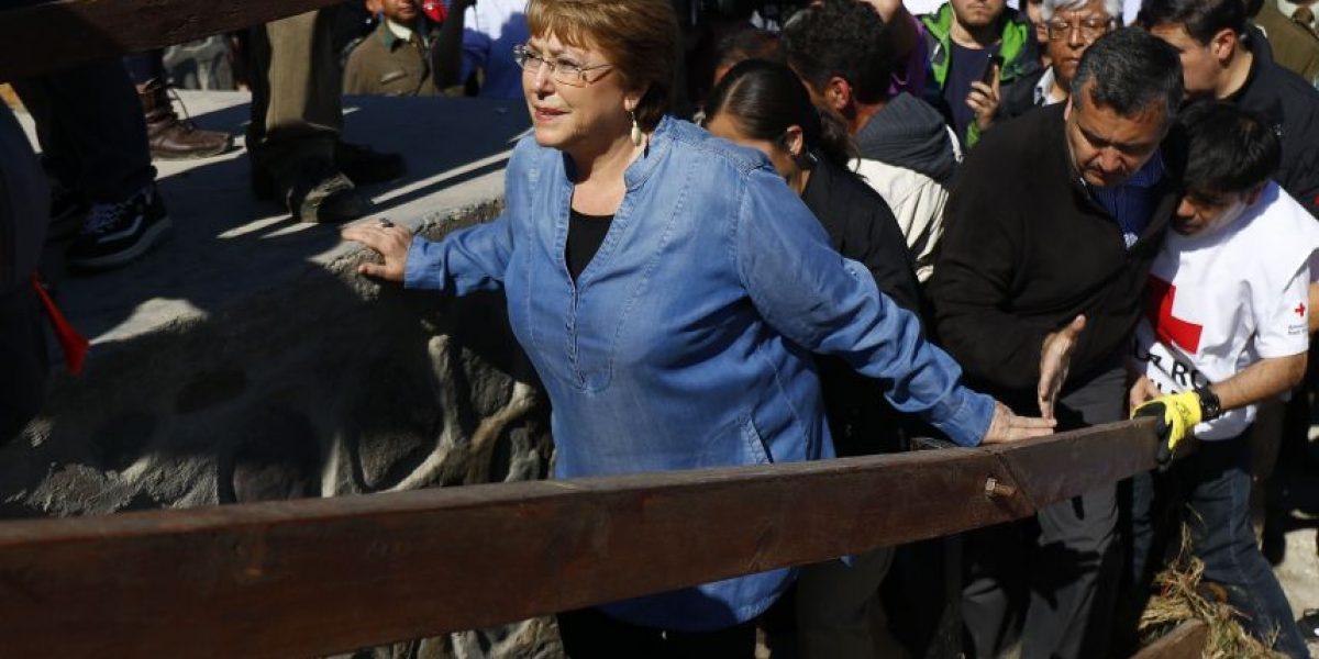 Presidenta Bachelet: reacción tras terremoto