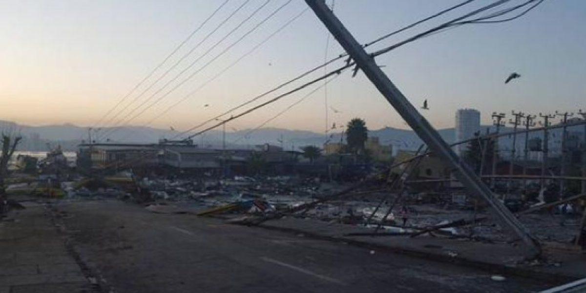 El devastador panorama en borde costero de Coquimbo tras terremoto