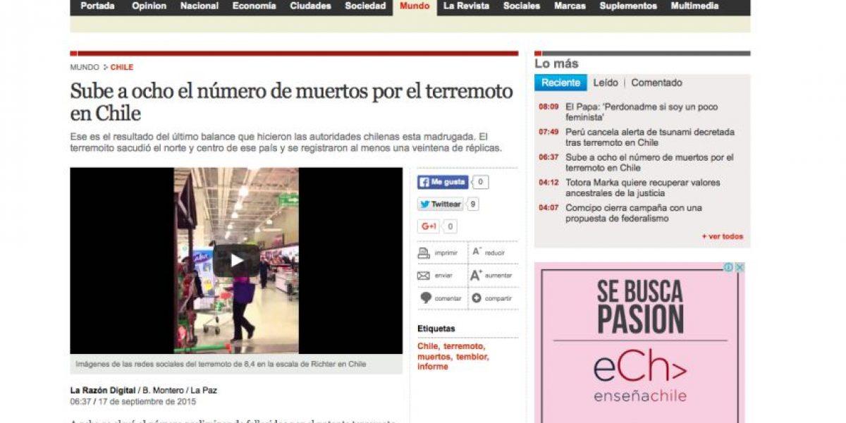 Así informa la prensa mundial el día después del terremoto 8.4