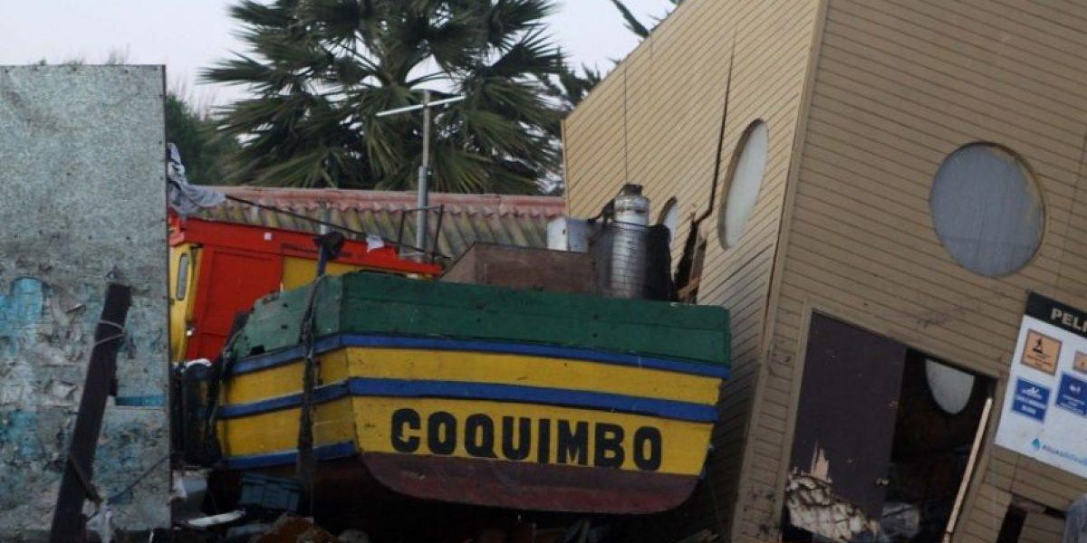 Las dramáticas postales de la zona costera de Coquimbo tras terremoto y tsunami
