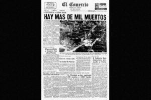 3. 31 de mayo de 1970, Chimbote, Perú: Más de 50 mil personas fallecidas dejó el terremoto con magnitud de 7.9. Foto:Arkivperu.com. Imagen Por: