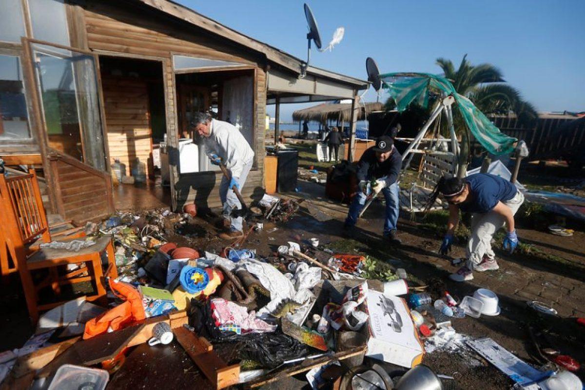 Efectos del Tsunami en Concón Foto:Agencia Uno. Imagen Por: