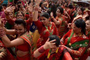 Festival religioso en Nepal. Foto:AFP. Imagen Por: