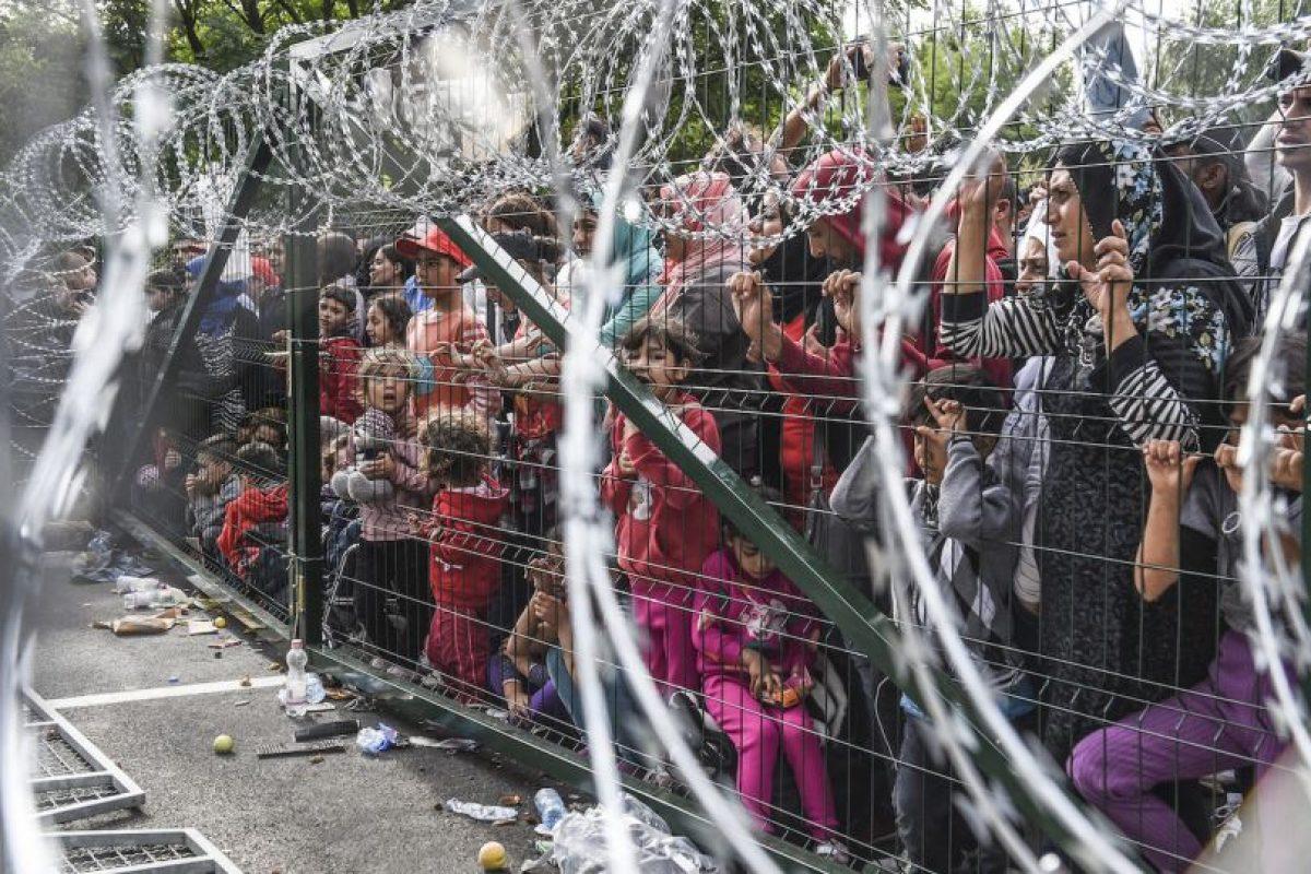 Refugiados en la frontera de Hungría y Serbia. Foto:AFP. Imagen Por: