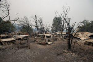 Fuego forestal en California consumió 400 casas. Foto:AFP. Imagen Por: