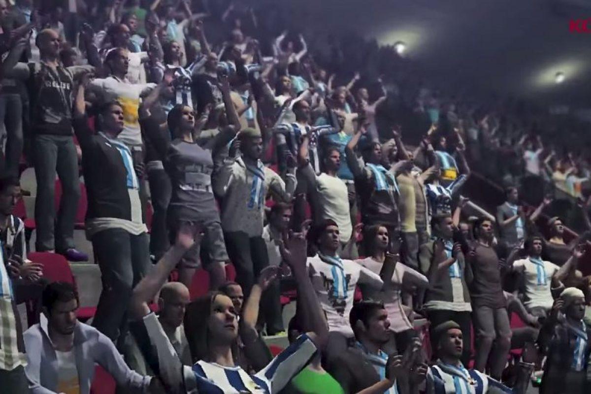 El público festejando los goles de su equipo. Foto:Konami. Imagen Por: