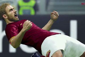 El italiano Daniele de Rossi gritando en el campo de juego. Foto:Konami. Imagen Por: