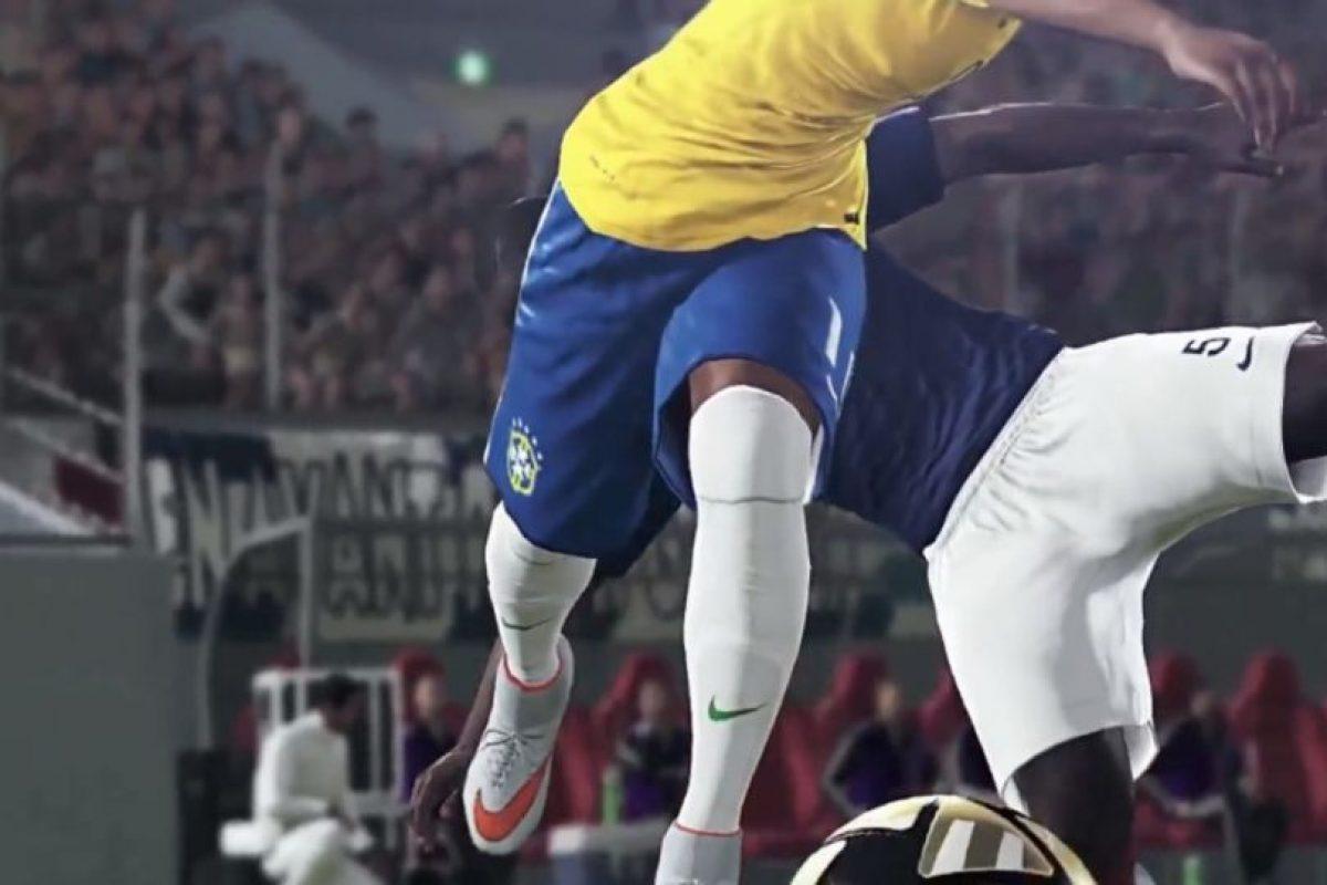 Los brasileños eludiendo la marca. Foto:Konami. Imagen Por: