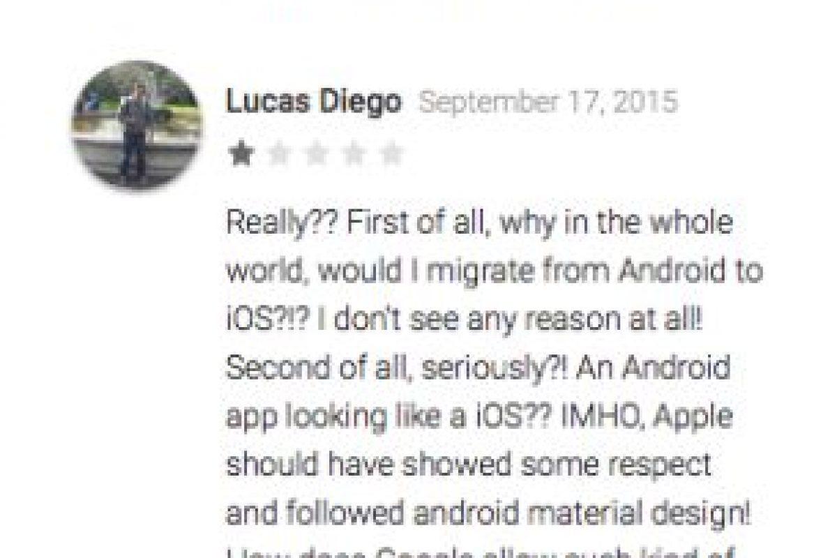 Mittal opina que la app funciona, que los comentarios en contra son favoritismos. Por el contrario Lucas Diego opina que Google no debería permitir estas cosas, por respeto propio Foto:Google Play. Imagen Por: